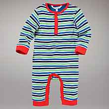 Buy John Lewis Striped Onesie, Multi Online at johnlewis.com