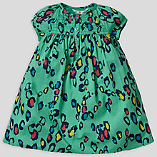Buy John Lewis Leopard Print Dress, Green Online at johnlewis.com
