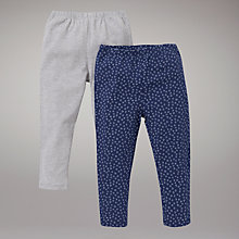 Buy John Lewis Plain and Spot Leggings, Pack of 2, Multi Online at johnlewis.com