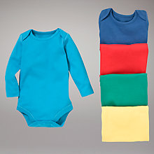 Buy John Lewis Baby Bright Bodysuits, Pack of 5, Multi Online at johnlewis.com