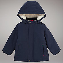 Buy John Lewis Wadded Coat, Navy Online at johnlewis.com