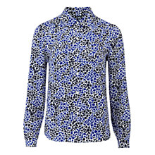 Buy Hobbs Alyssa Blouse, Sea Blue Online at johnlewis.com
