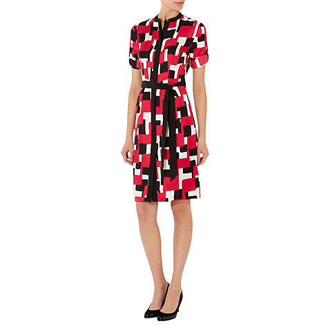 Buy Hobbs Southwark Dress, Sorbet Multi Online at johnlewis.com