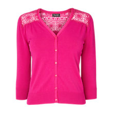 Buy Phase Eight Sabina Lace Cardigan, Cerise Online at johnlewis.com