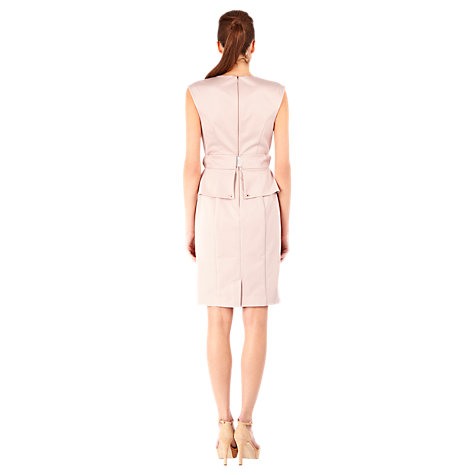 Buy Warehouse Button Down Peplum Dress, Light Pink Online at johnlewis.com