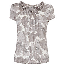 Buy Phase Eight Dalilah Blouse, Silver Online at johnlewis.com