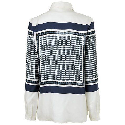 Buy Jaeger Scarf Print Blouse, Ivory Online at johnlewis.com