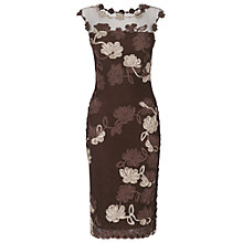Buy Phase Eight Fifi Tapework Dress, Mocha Online at johnlewis.com