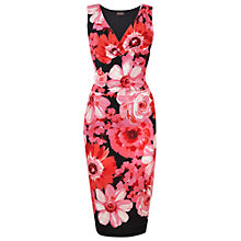 Buy Phase Eight Berenice Dress, Black/Poppy Online at johnlewis.com