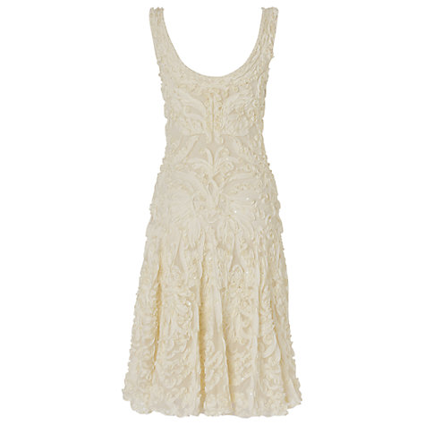 Buy Phase Eight Pollyanna Dress, Cream Online at johnlewis.com