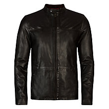 Buy Ted Baker Birgin Leather Jacket, Black Online at johnlewis.com