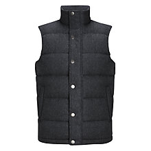 Buy John Lewis Birdseye Tweed Gilet, Charcoal Online at johnlewis.com