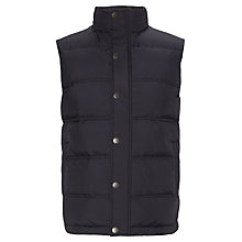 Buy John Lewis Padded Gilet, Navy Online at johnlewis.com