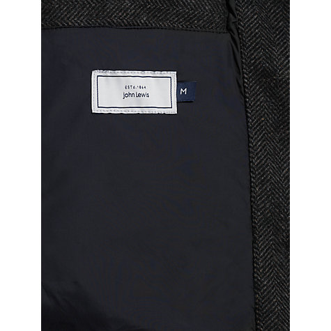 Buy John Lewis Herringbone Gilet, Charcoal Online at johnlewis.com