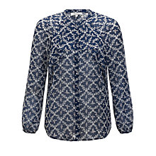 Buy Somerset by Alice Temperley Manor Print Blouse, Midnight Online at johnlewis.com