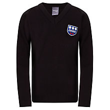 Buy Harlington Upper School Unisex Jumper, Black Online at johnlewis.com