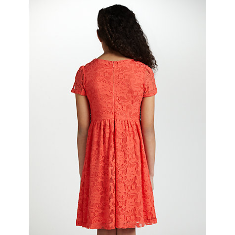 Buy Loved & Found Girls' Lace Dress, Coral Online at johnlewis.com