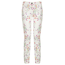Buy Loved & Found Girls' Floral Twill Trousers, Multi Online at johnlewis.com