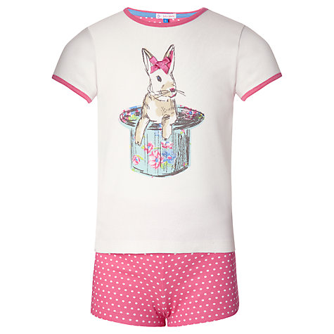 Buy John Lewis Girl Bunny Shortie Pyjamas, Pink Online at johnlewis.com