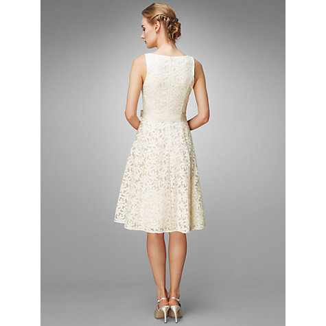 Buy Phase Eight Daisy Embroidered Prom Style Wedding Dress, Cream Online at johnlewis.com