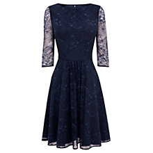 Buy Coast Toricella Lace Dress, Navy Online at johnlewis.com