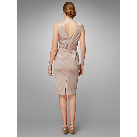 Buy Phase Eight Duet Satin Ruched Detail Dress, Cappuccino Online at johnlewis.com