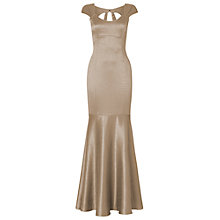 Buy Phase Eight Tia Fishtail Full Dress, Gold Online at johnlewis.com