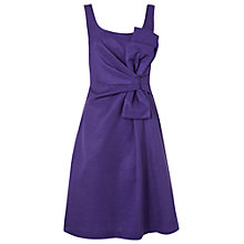 Buy Phase Eight Symphony Bow Dress, Aubergine Online at johnlewis.com