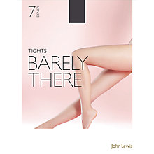 Buy John Lewis 7 Denier Barely There Tights, Pack of 1, Nearly Black Online at johnlewis.com