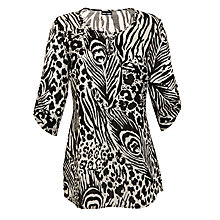 Buy Gerry Weber Animal Print Cotton Kaftan, Animal Print Online at johnlewis.com