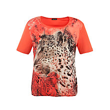 Buy Gerry Weber Leopard Motif T-Shirt, Orange Online at johnlewis.com
