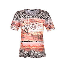 Buy Gerry Weber Serengeti Burnout T-Shirt, Multi Online at johnlewis.com