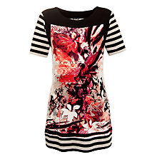 Buy Gerry Weber Stripe Floral Tunic Top, Print Online at johnlewis.com