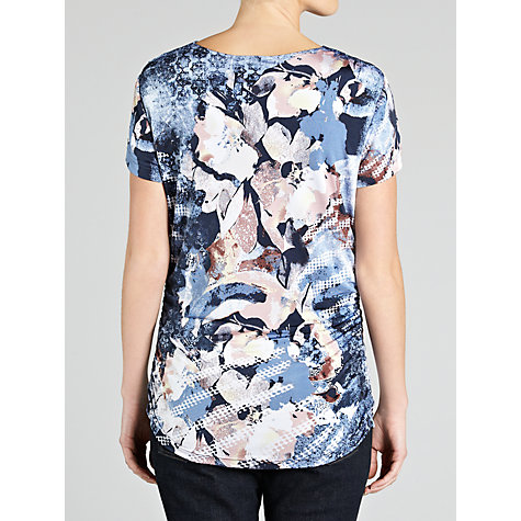 Buy Gerry Weber Patterned Cowl Neck Top, Blue Online at johnlewis.com