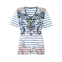 Buy Gerry Weber Stripe Pattern T-Shirt, Multi Online at johnlewis.com