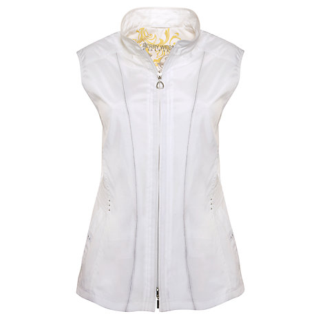 Buy Gerry Weber Lightweight Gilet Jacket, White Online at johnlewis.com