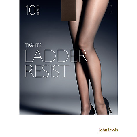 Buy John Lewis 10 Denier Smooth Ladder Resist Tights, Pack of 1 Online at johnlewis.com