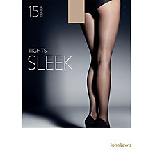 Buy John Lewis 15 Denier Sleek Tights, Pack of 1 Online at johnlewis.com