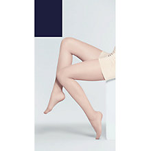 Buy John Lewis 10 Denier Tights, Navy, Pack of 3, XXL Online at johnlewis.com
