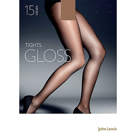 Buy John Lewis 15 Denier Gloss Tights, Pack of One, Bronze Online at johnlewis.com
