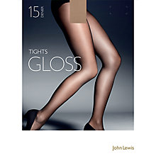 Buy John Lewis 15 Denier Gloss Tights, Pack of 1 Online at johnlewis.com
