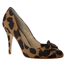 Buy Hobbs Adeline Fabric Cheetah Print Court Shoes, Brown/Black Online at johnlewis.com