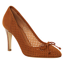 Buy Hobbs Fion Nubuck Cut-Out Detail Court Shoes Online at johnlewis.com