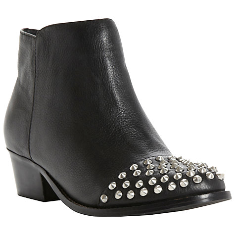 Buy Steve Madden Praque Leather Boots, Black Online at johnlewis.com
