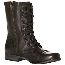 Buy Steve Madden Troopa Combat Calf Boots Online at johnlewis.com