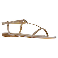 Buy KG by Kurt Geiger Match Leather Flat Sandals Online at johnlewis.com
