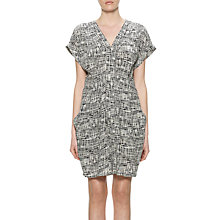 Buy Whistles Cross Hatch Dress, Black/White Online at johnlewis.com