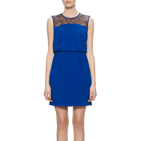 Buy Whistles Millie Lace Back Dress, Blue Online at johnlewis.com