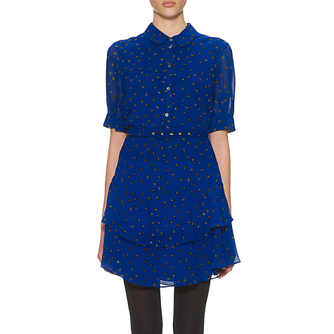 Buy Whistles Button Print Dress, Blue Online at johnlewis.com