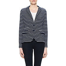 Buy Whistles Lily Stripe Jersey Jacket, Navy Online at johnlewis.com